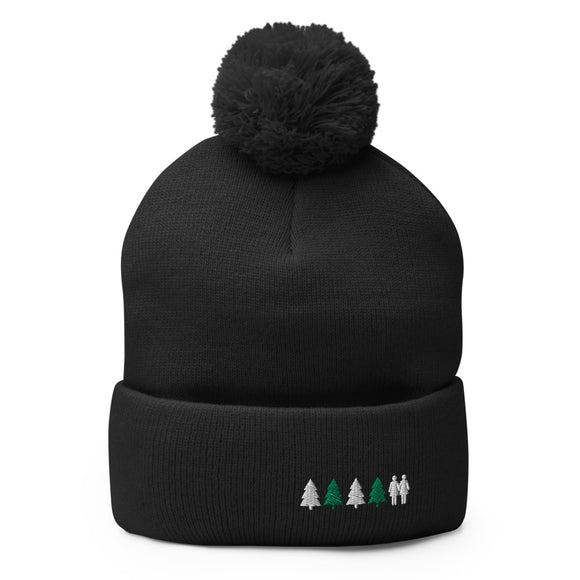Holiday Trees Pom-Pom Beanie