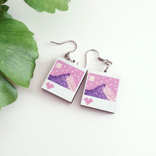 Load image into Gallery viewer, Pixel Mountain Wooden Earrings
