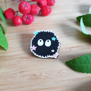 Soot Sprite Wooden Pin