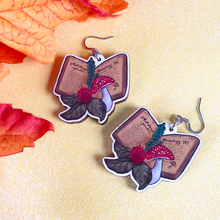 Load image into Gallery viewer, Herbal Witch Wooden Earrings