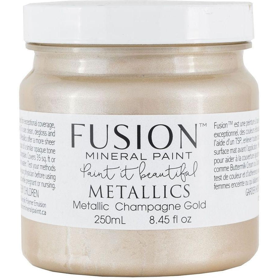 Metallic Champagne Gold-Fusion Mineral Paint-ReVamp Vintage Market