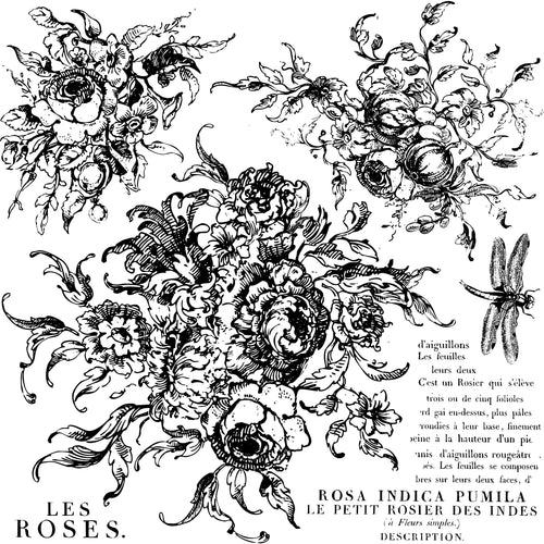 Rose Toile 12x12 Decor Stamp-Iron Orchid Designs IOD-ReVamp Vintage Market