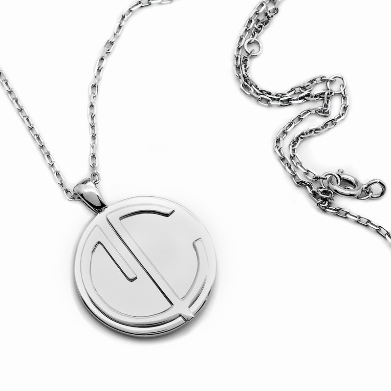 Cvlcha Coin Necklace 18mm  - Silver - CVLCHA