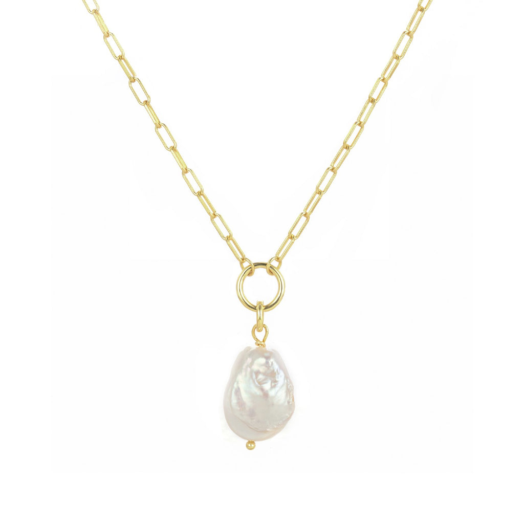 Natural Baroque Pearl Lulu Necklace - CVLCHA