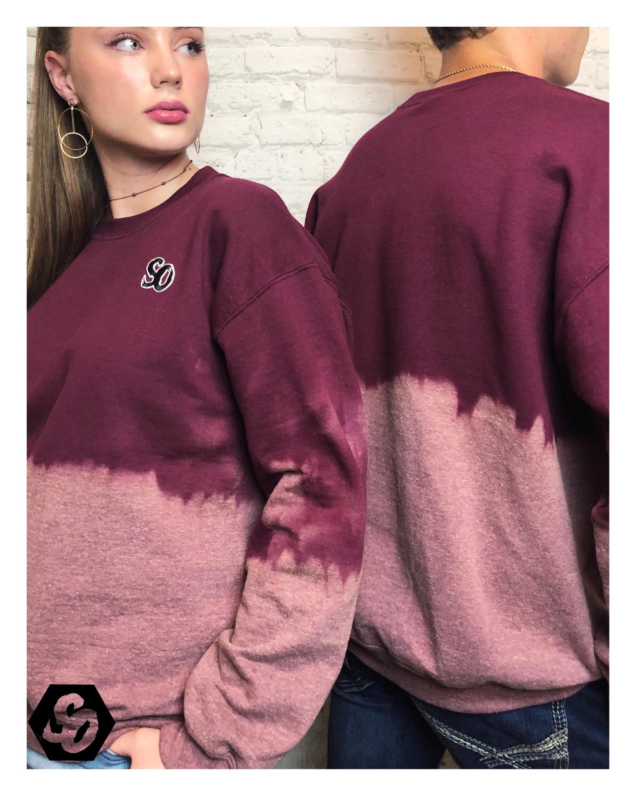 Pomegranate Ombre Sweatshirt