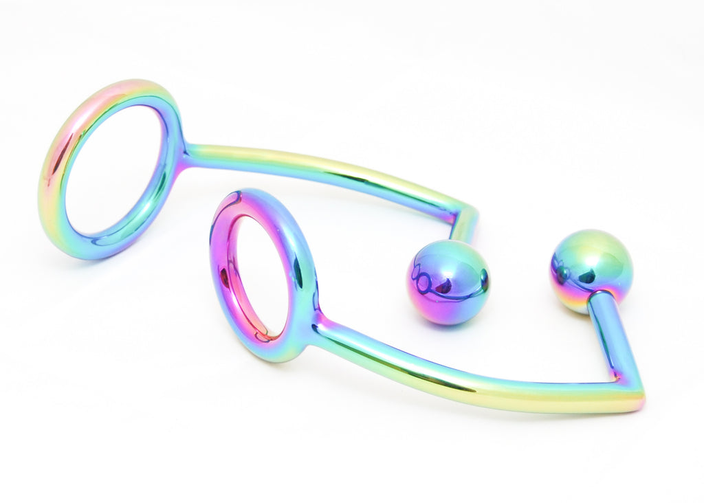 Anodized Anal Ball with C-Ring
