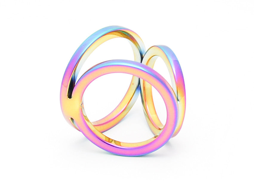 Anodized 3-Ring Cock Ring