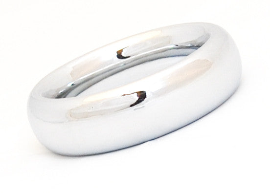 Wide Chrome Cock Ring