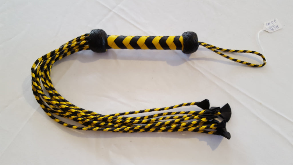 Cat-O-Tail Yellow Flogger Leather