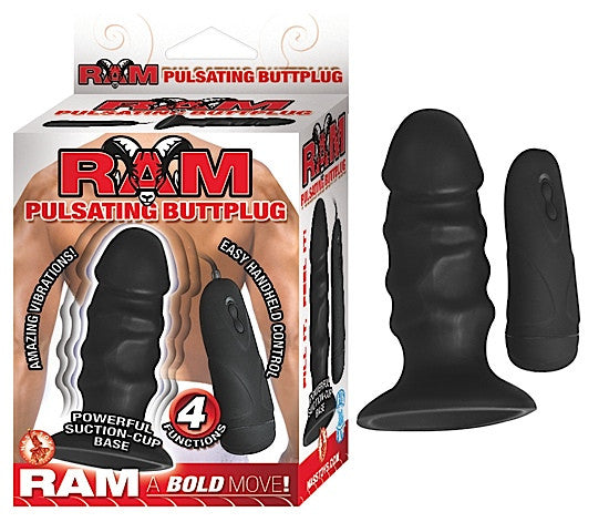 Ram Pulsating Butt Plug Black