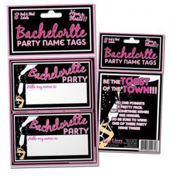 Bachelorette Name Tag Stickers