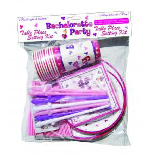 Bachelorette Table Place Setting Kit