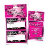 Party Girl Name Tag Stickers