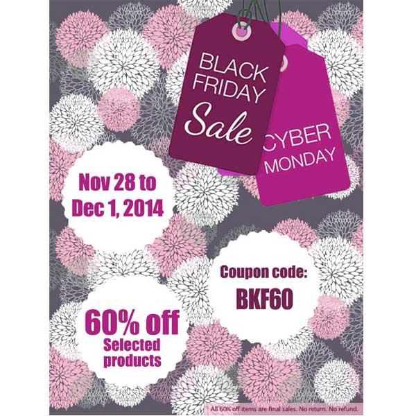 Black Friday to Cyber Monday Sale 60% off | Promo Code: BKF60