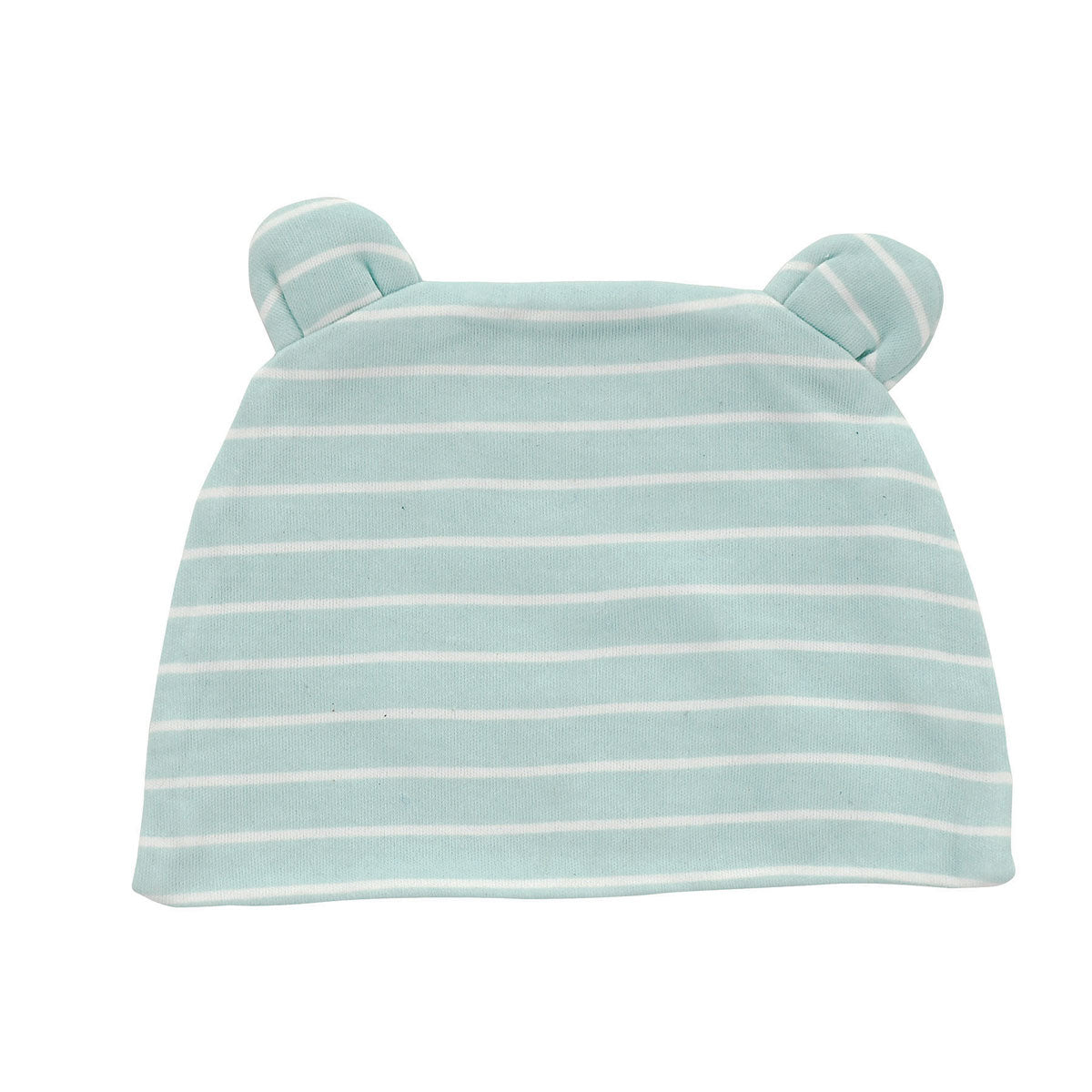 Organic Cotton Beanie (Color: Stripe Arctic blue)