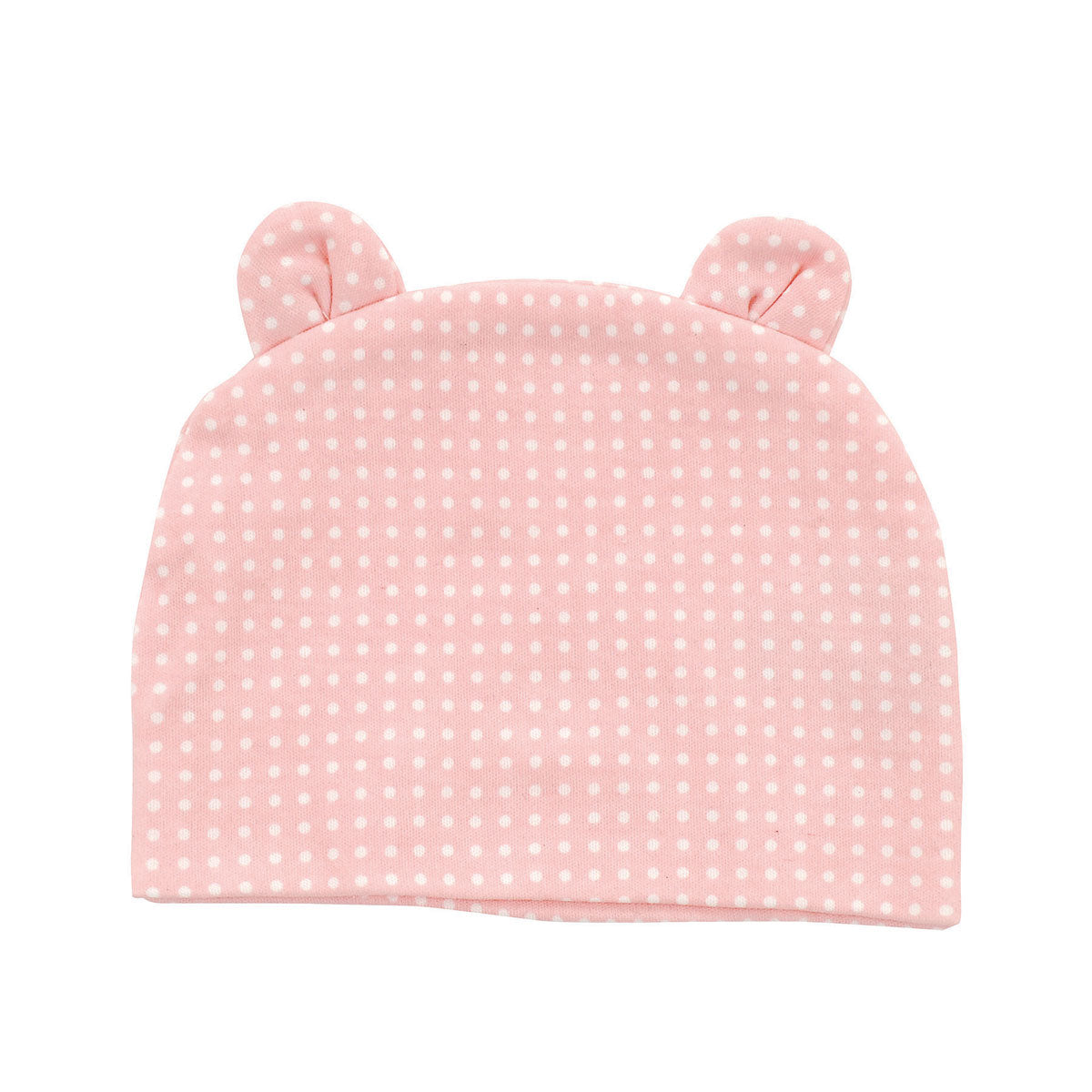 Organic Cotton Beanie (Color: Blush dot)