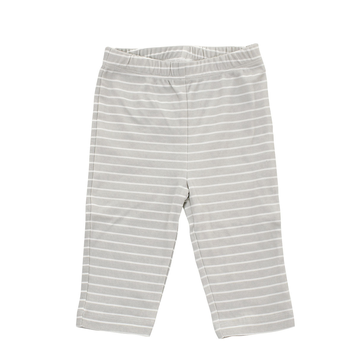 Organic Cotton Pullover Pant (Silver cloud stripe)