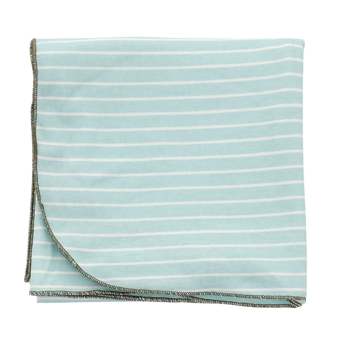 Organic Cotton Swaddler Blanket (Arctic blue/snow stripe)