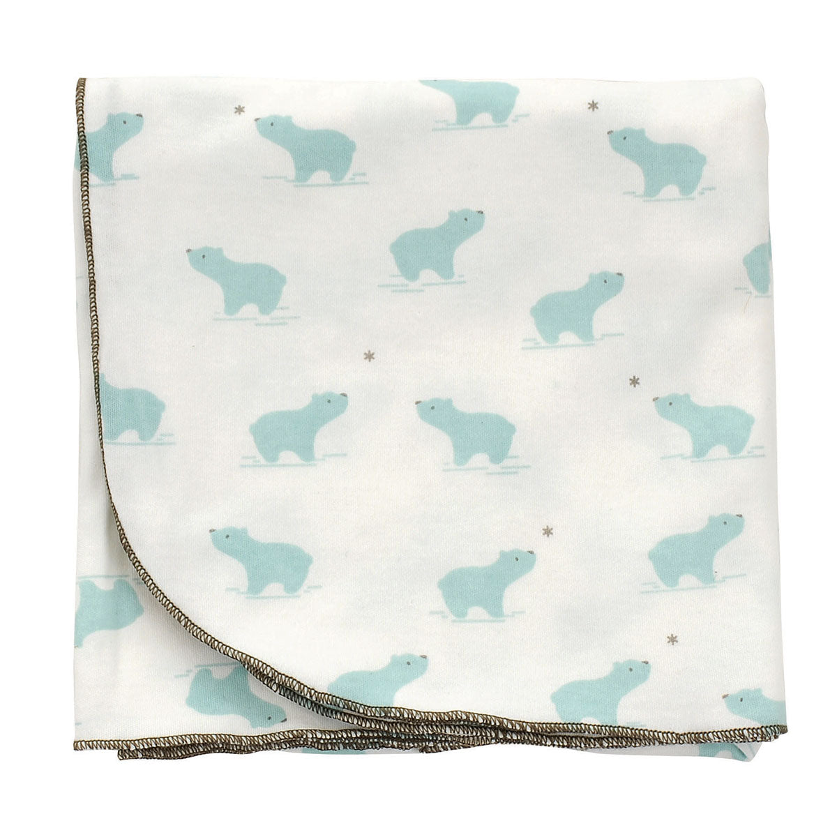 Organic Cotton Swaddler Blanket (Arctic blue bear print)