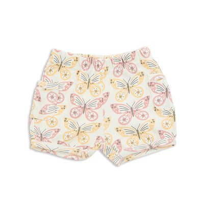Organic Cotton Pocket Shorts (Butterfly Print)