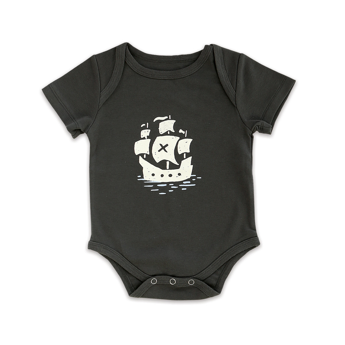 Organic Cotton Short Sleeve Onesie (Iron)