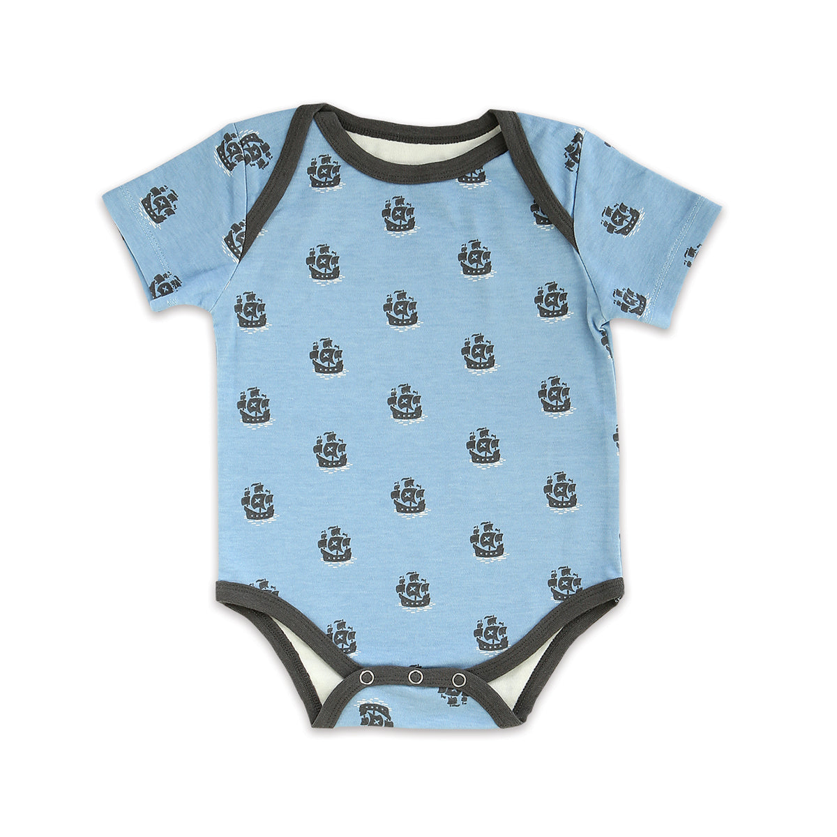Organic Cotton Short Sleeve Onesie (Little Pirate Print)