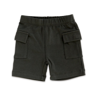 Organic Cotton Cargo Pocket Shorts (Iron)