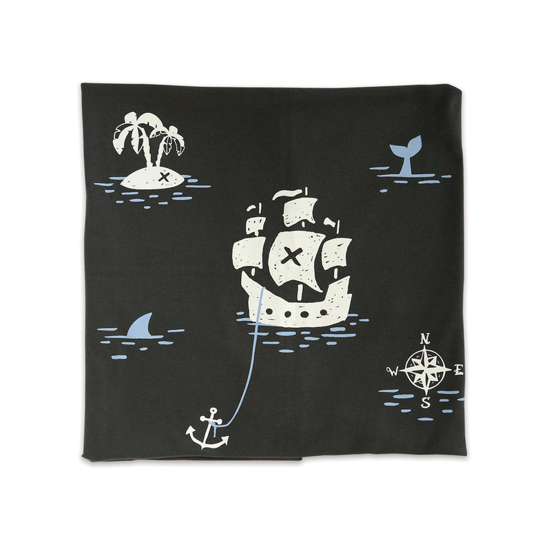 Organic Cotton Swaddle Blanket (Iron/Pirate)