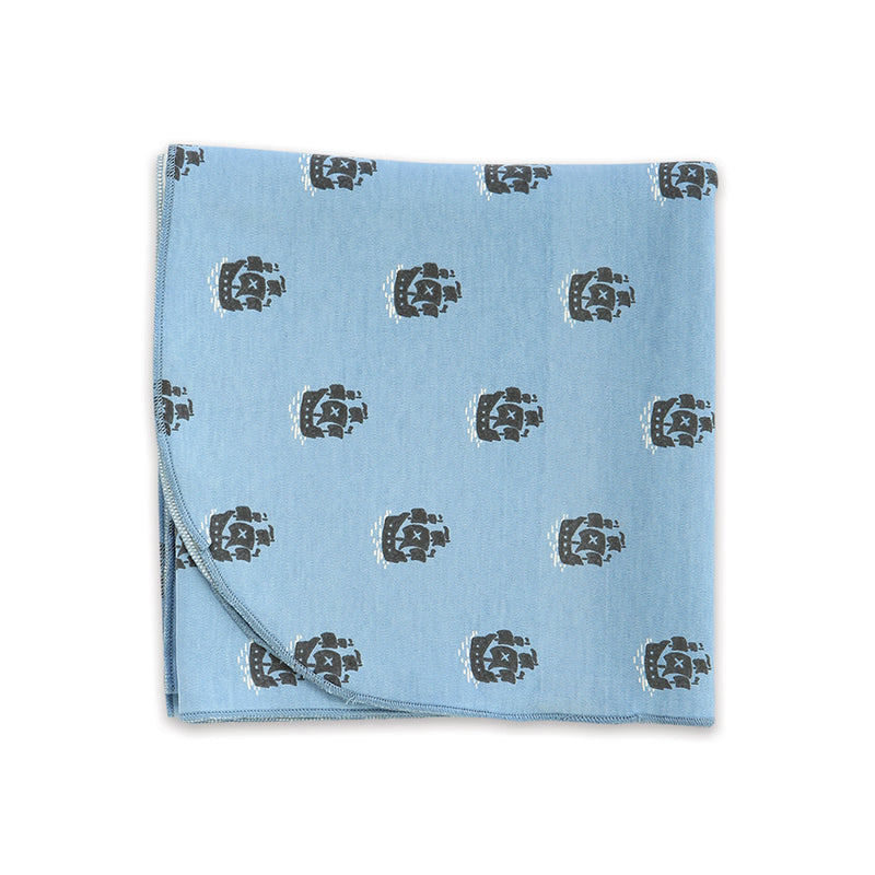 Organic Cotton Swaddle Blanket (Little Pirate Print)
