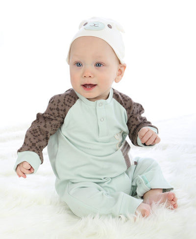 Organic Cotton Long Sleeve Romper(Stardust)