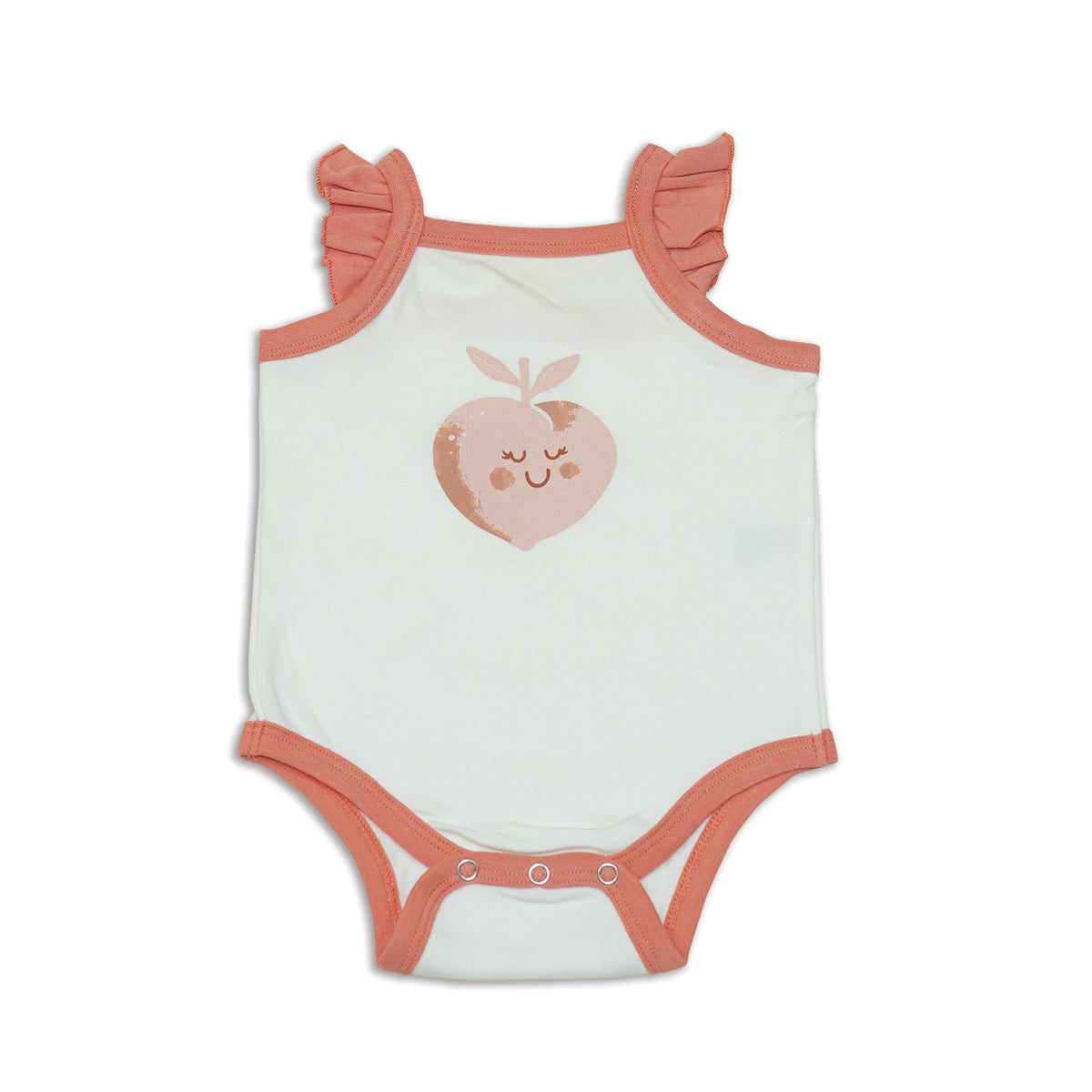 Organic Cotton Flutter Sleeve Onesie (Feather)
