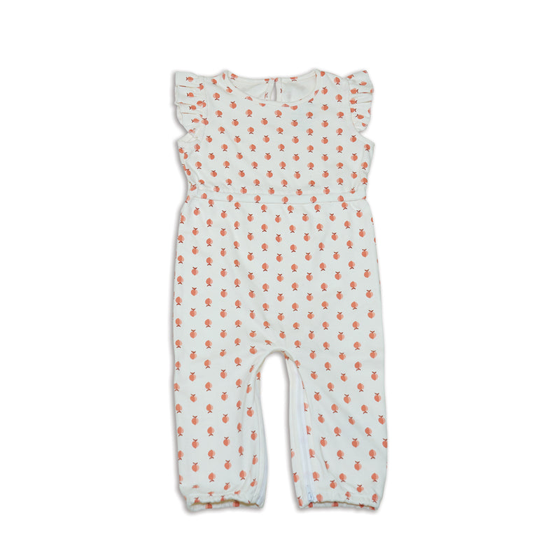 Organic Cotton Zippy Coverall (Peachy Keen Print)