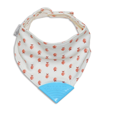 Organic Cotton Chewable Bib (Peachy Keen Print)