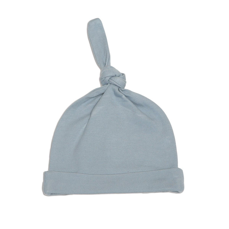 organic cotton knot hat foggy color