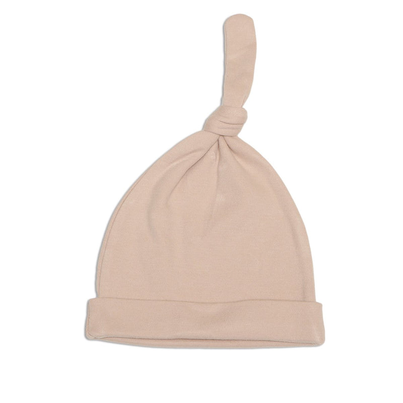 organic cotton knot hat rose dust color