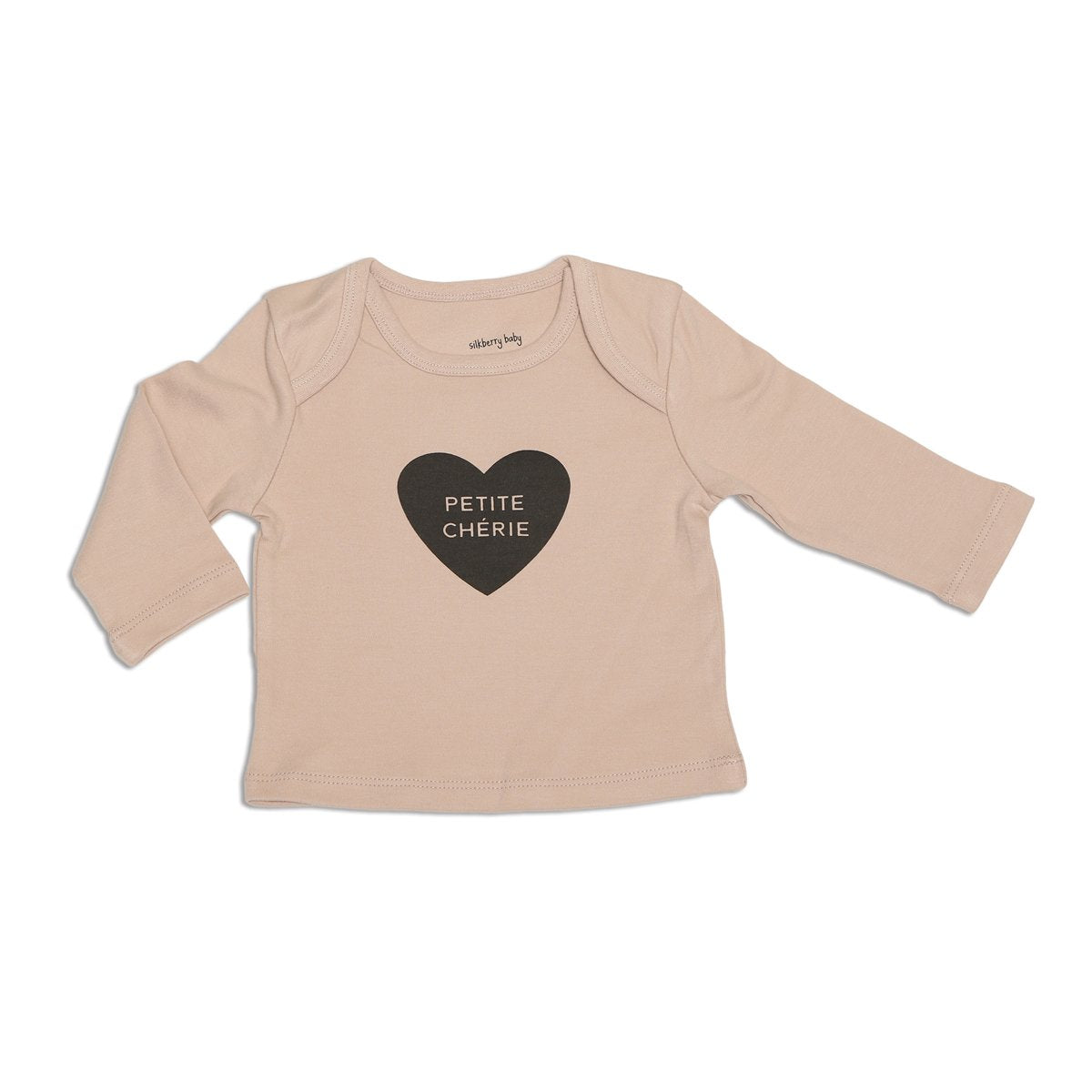 organic cotton baby basic tee rose dust