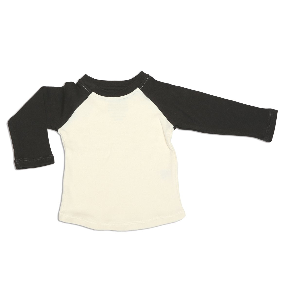organic cotton baseball tee neutral color