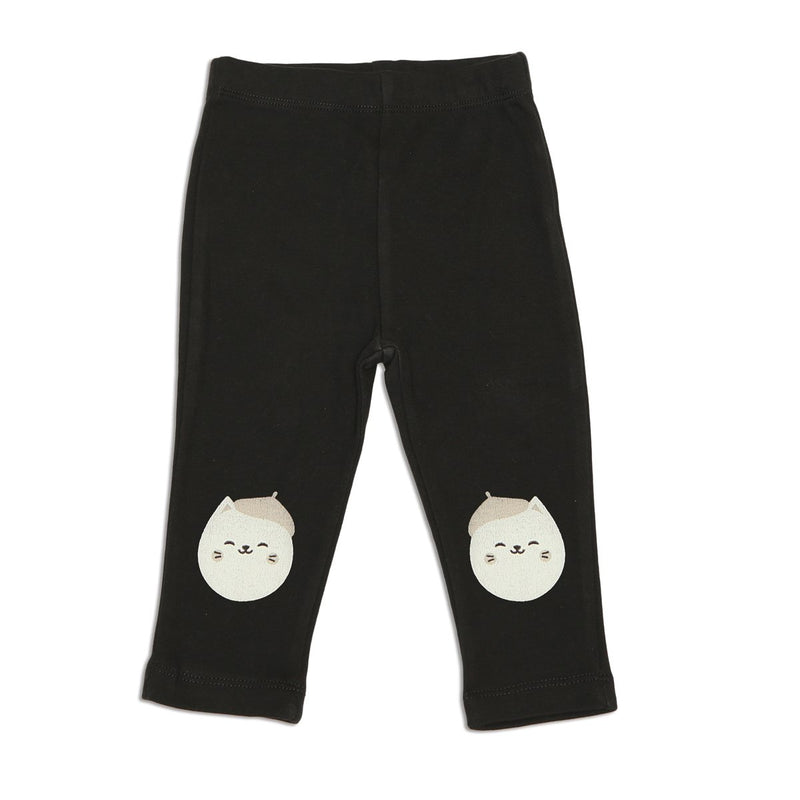 organic cotton leggings black