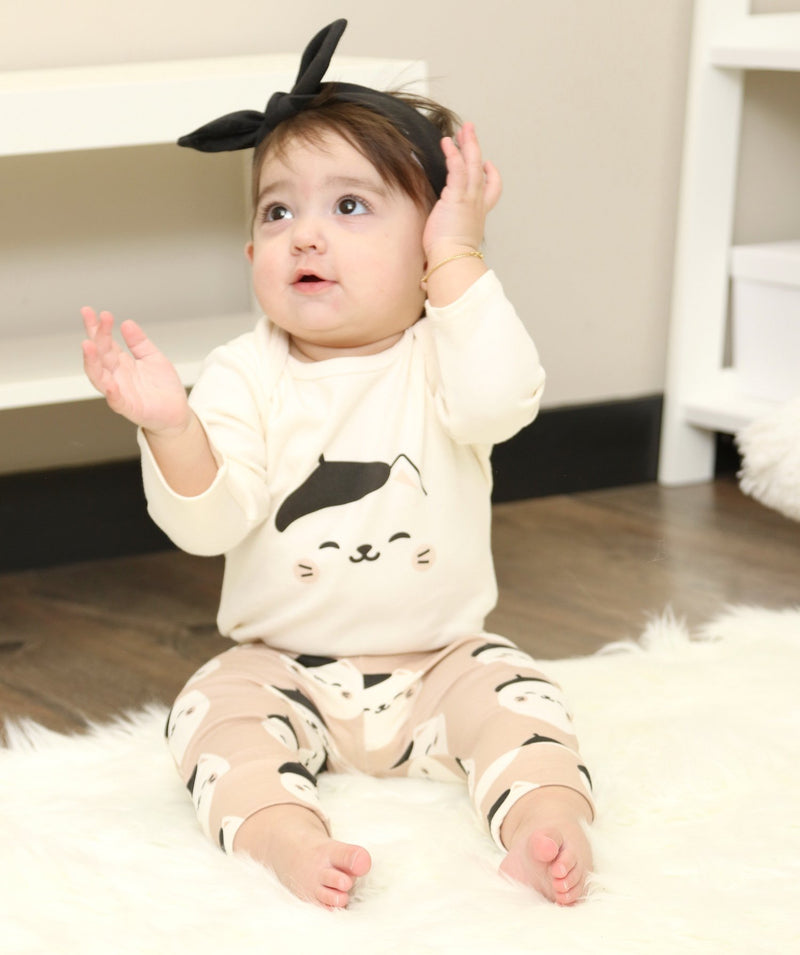 organic cotton 2 pc outfit set (bodysuit & pant set)