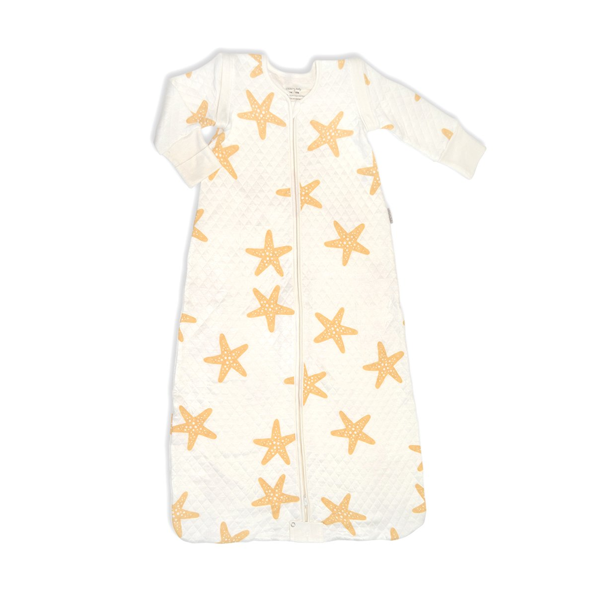 bamboo sleeping sack with detachable sleeves starfish print