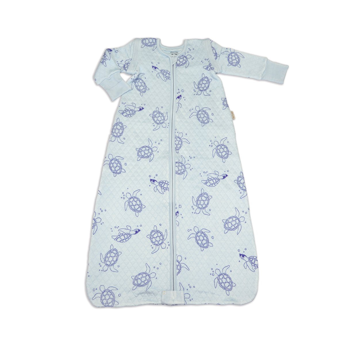 bamboo sleeping sack with detachable sleeves sea turtle print