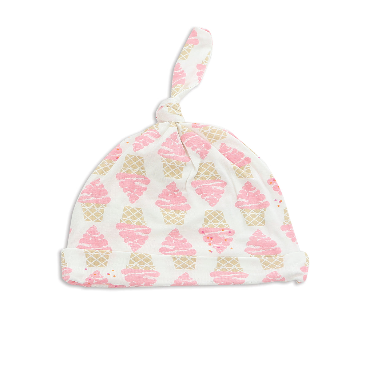Bamboo Knot Hat (Ice Cream Print)