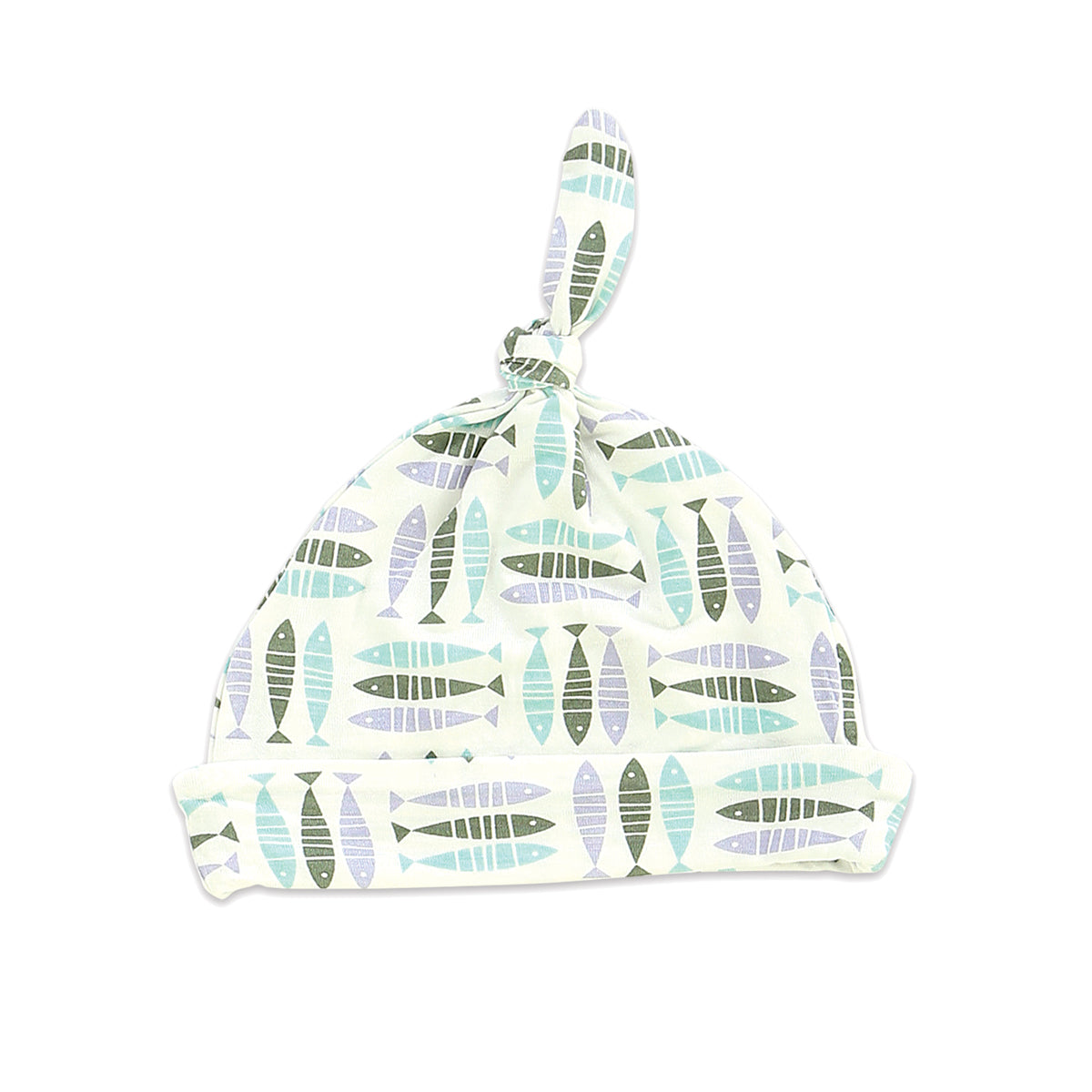 Bamboo Knot Hat - Fish Friends Print