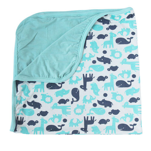 Bamboo Double Layered Receiving Blanket (Pool/Twilight)