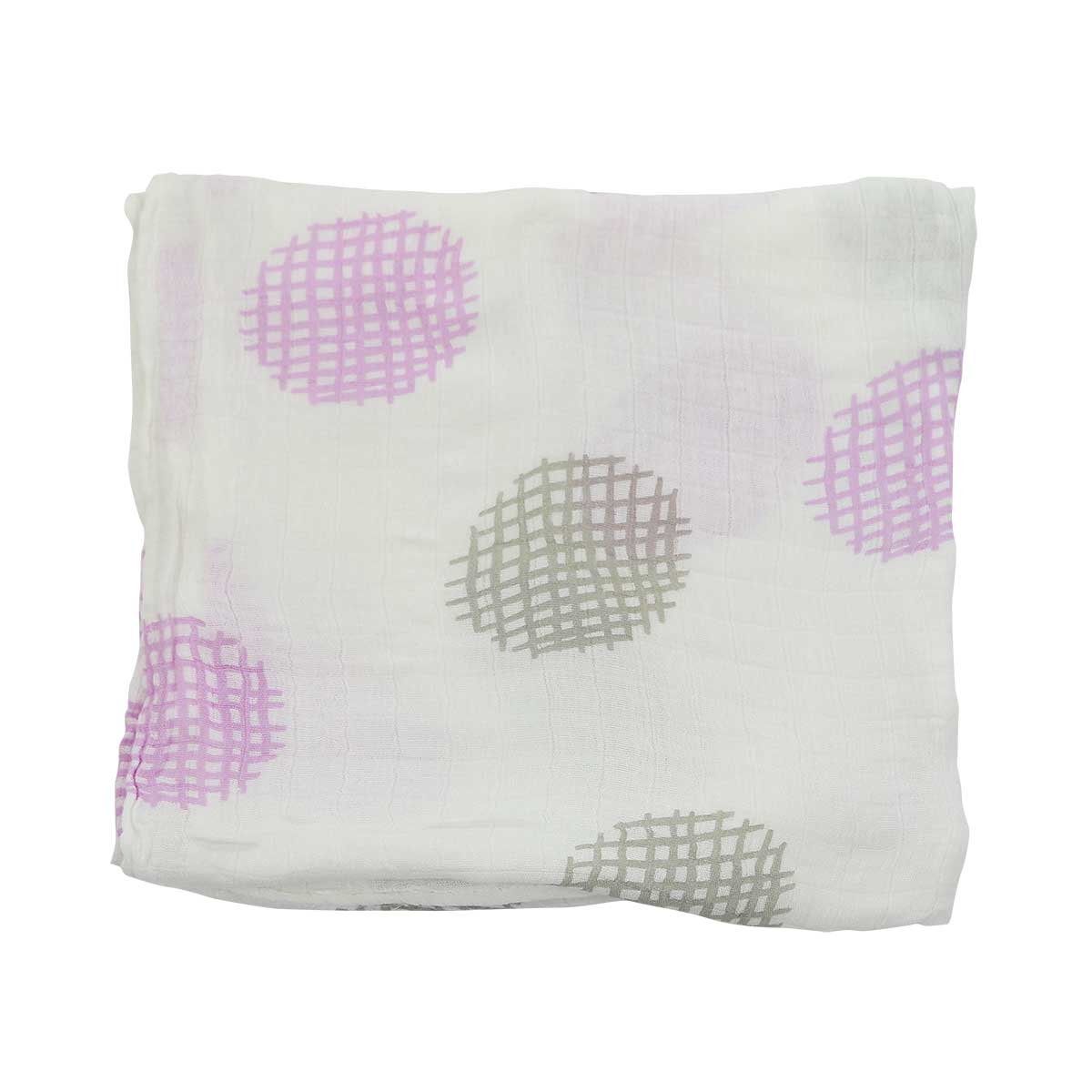 Bamboo Muslin Swaddle (Waffle Print Orchid)