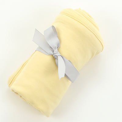 Bamboo Swaddle Blanket - Banana (solid color)