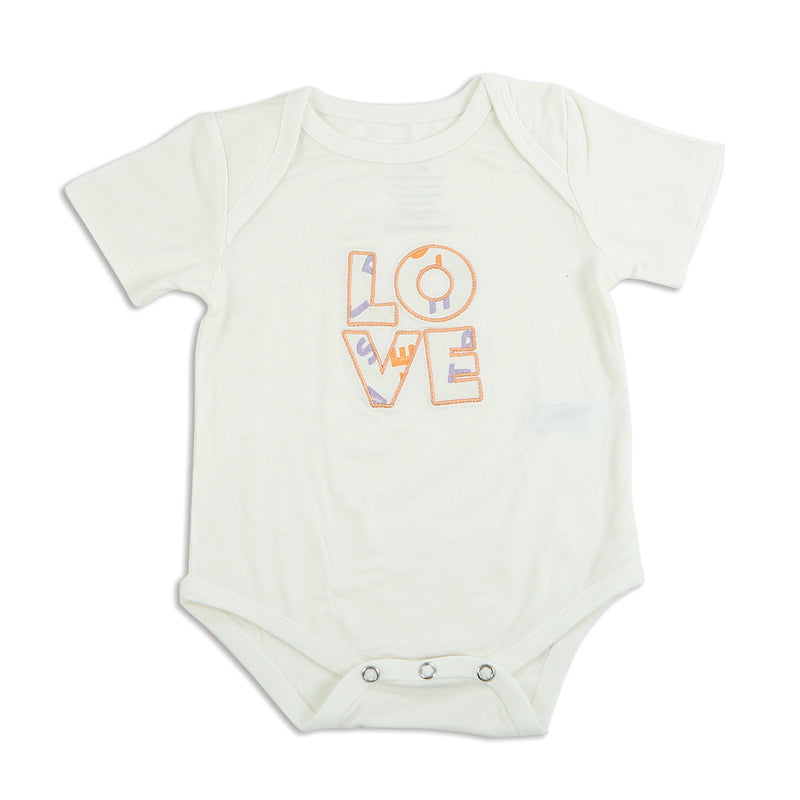 Bamboo Short Sleeve Onesie (Feather/Love)