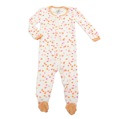 Bamboo Footies with Easy Dressing Zipper (Confetti Sprinkles Print)