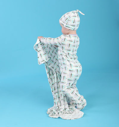 Bamboo Footies with Easy Dressing Zipper (Fish Friends)
