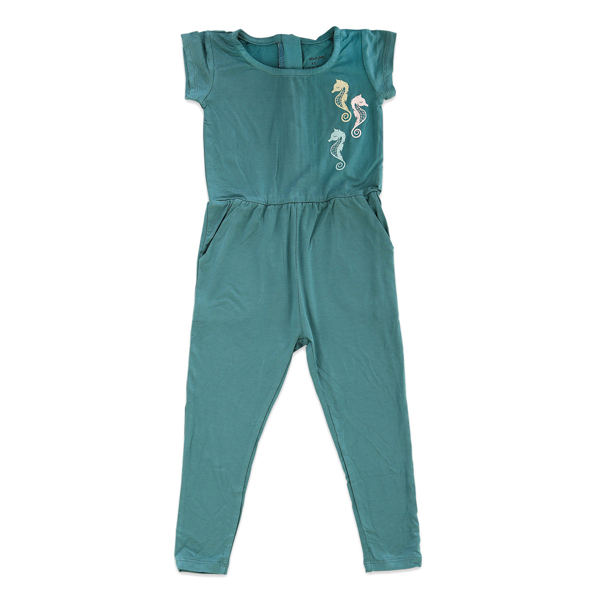 Bamboo Girl Coverall with Zipper (Stormy Teal)